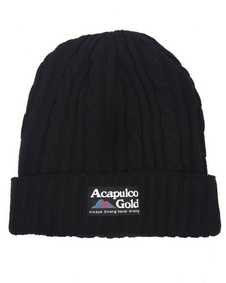 Acapulco Gold Men Kilimanjaro Beanie Black Wash