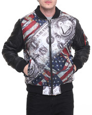 Men - Money & Flag Bomber /Jacket