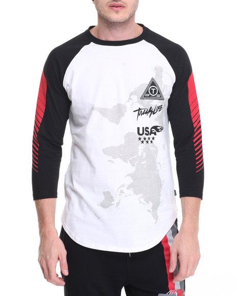 Trukfit - Men White Racing Raglan - $29.99