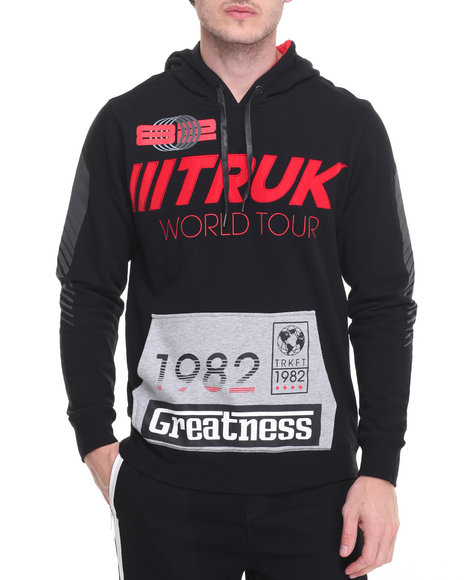 Trukfit - Men Black Racing Hoodie