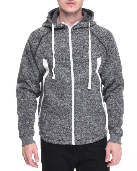 Buyers Picks - Men Black Tech Fleece Full Zip Hoody