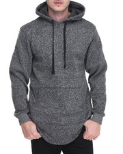 Men - Marled Fleece Pullover w Side Zipper