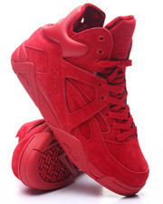 Footwear - Cage Red Hi Top