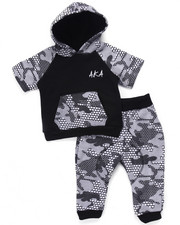 Sets - 2 PC SET - PIXEL CAMO HOOY & JOGGER (INFANT)