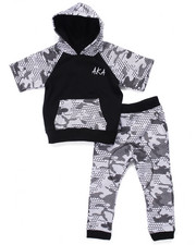 Boys - 2 PC SET - PIXEL CAMO HOOY & JOGGER (4-7)