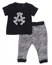 Sets - 2 PC SET - TEE & ELEPHANT PRINT JOGGER (INFANT)
