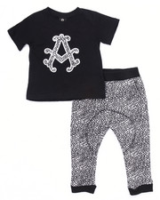Boys - 2 PC SET - TEE & ELEPHANT PRINT JOGGER (2T-4T)