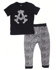 Boys - 2 PC SET - TEE & ELEPHANT PRINT JOGGER (4-7)