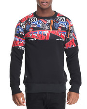 Sweatshirts & Sweaters - Patch Printed Sweatshirt