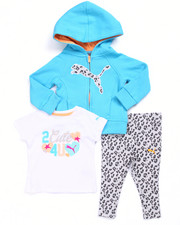 Girls - 3 PC SET - CAT HOODY, TEE, & PANTS (INFANT)