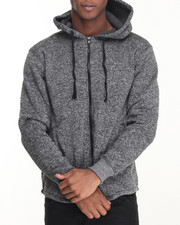 Hoodies - Marled Fish Tail Elongated Hoody