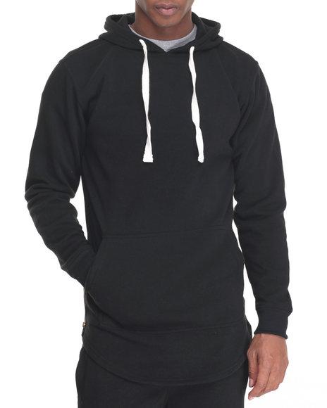 Buyers Picks - Men Black Pullover Hoody W Side Zip
