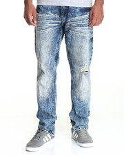 Men - Acid Wash Denim Jeans
