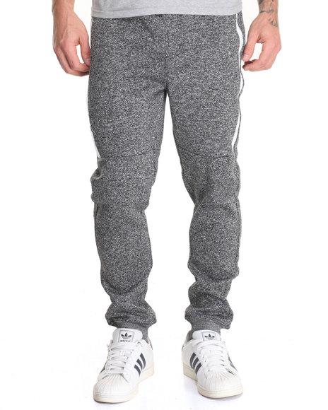 Buyers Picks - Men Black Tech Fleece Pants W Side Zipper