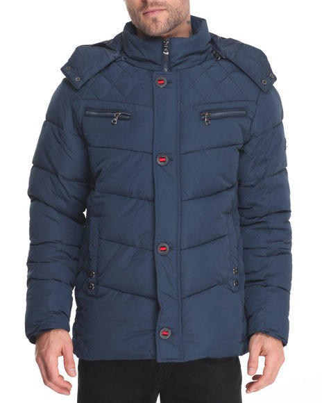 Buyers Picks - Men Navy Sierra Heavy Quilted Bubble Jacket