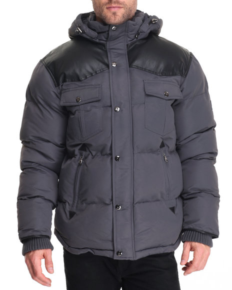 Buyers Picks - Men Charcoal Snow Ranger Heavy Western Bomber Jacket