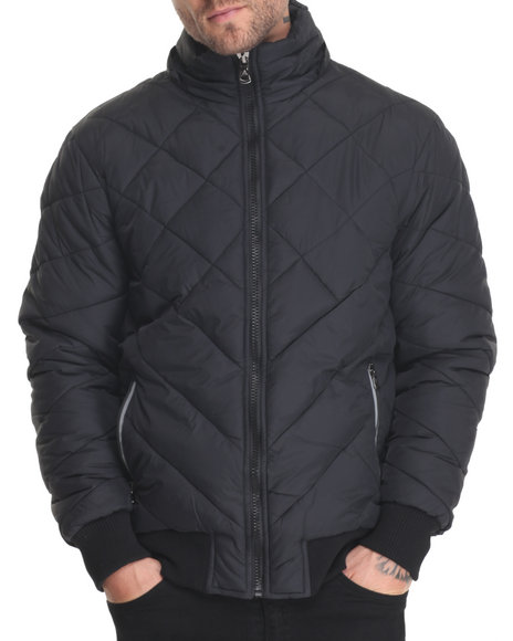 Buyers Picks Men Apex Heavy Quilted Bubble Jacket Black Medium