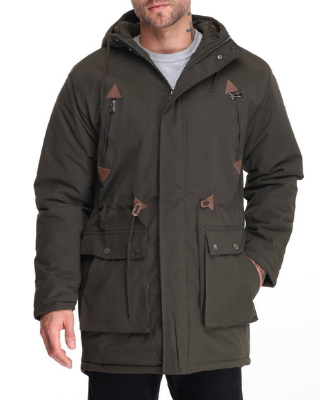 Buyers Picks - Men Olive Glacier Fishtail Parka Jacket