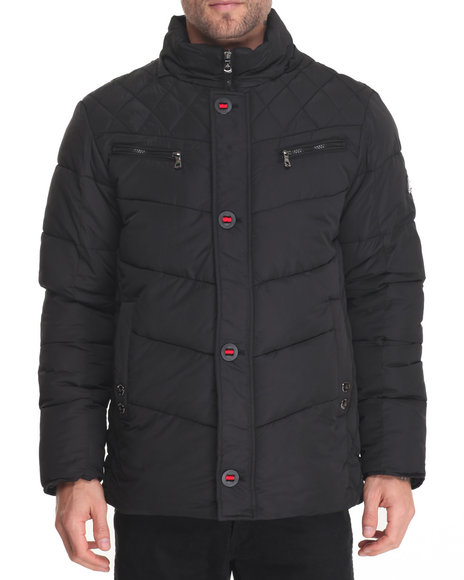 Buyers Picks Men Sierra Heavy Quilted Bubble Jacket Black XLarge