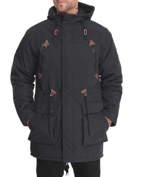 Buyers Picks - Men Black Glacier Fishtail Parka Jacket