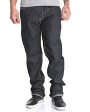 Men - Belted Flap - Pocket Raw Denim Jeans