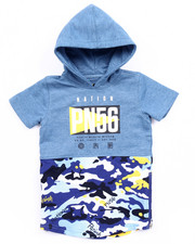 Hoodies - S/S FRENCH TERRY HOODED PULL OVER (2T-4T)