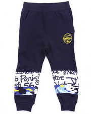 Bottoms - FRENCH TERRY WORLD WIDE SWEAT PANTS (2T-4T)