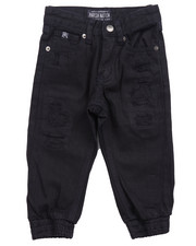 Bottoms - DISTRESSED TWILL JOGGERS (2T-4T)