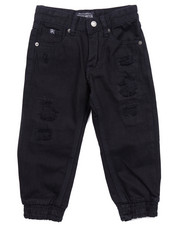 Bottoms - DISTRESSED TWILL JOGGERS (4-7)