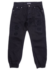 Bottoms - DISTRESSED TWILL JOGGERS (8-20)