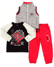 Boys - 3 PC SET - ELEPHANT PRINT VEST, TEE, & JOGGER (2T-4T)