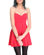 Women - Reds Strapless Dress