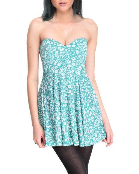 Fashion Lab - Women Mint Mint Strapless Dress - $16.99