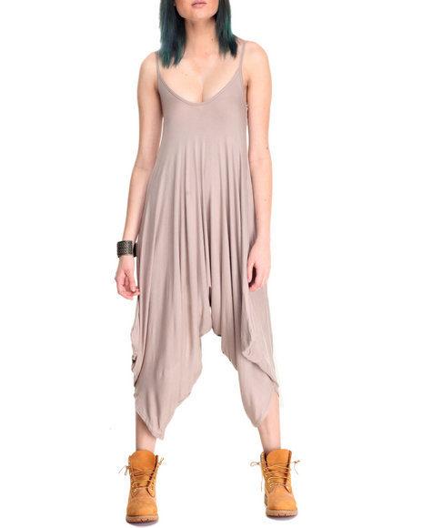 Fashion Lab - Women Brown Harem Jumpsuit