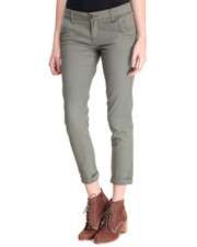 Women - Twill Roll Cuff Crop Skinny Jean