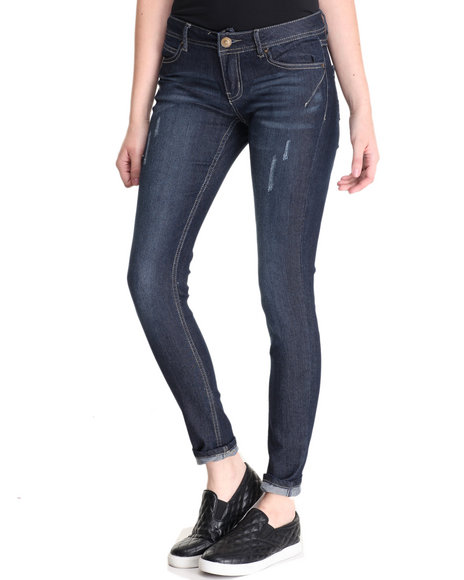 Basic Essentials - Women Dark Wash Rebel By Right 5 Pkt Skinny Jean
