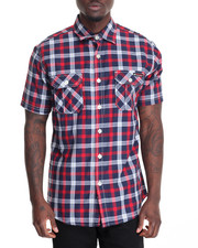 Shirts - Plaid S/S Button-Down