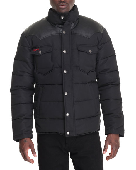 Kilogram Men Faux Leather Black Large