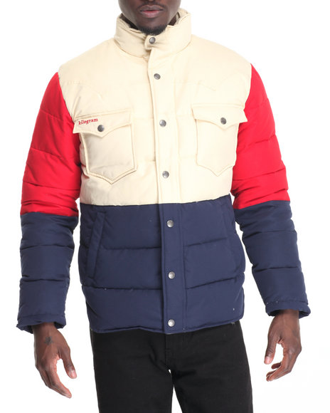Kilogram Men Multi Color Goose Down Quilted Jacket Multi 3XLarge