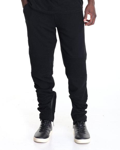 Pradagy - Men Black Tech Fleece Joggers
