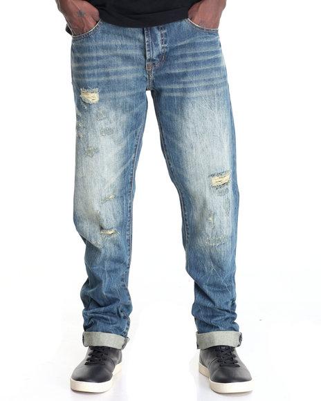 Kilogram - Men Vintage Wash Dillian Wheat Wash Denim Jean