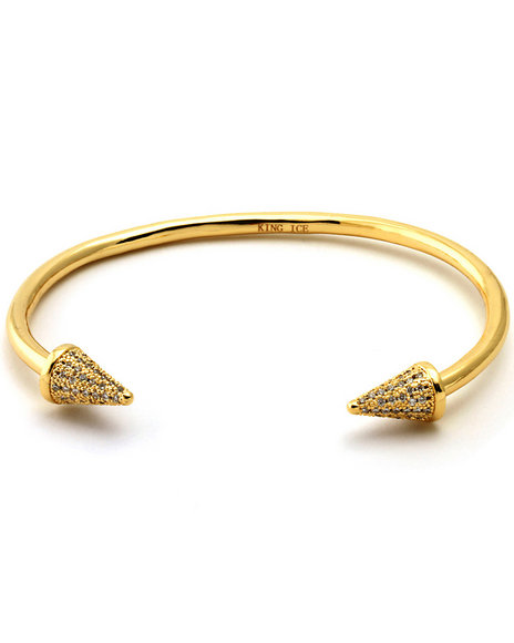 King Ice Men 14K Gold Needle Bangle Gold