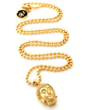 Accessories - 14K Gold Polished Mini Buddha Necklace