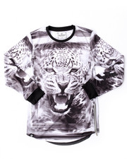 Akademiks - ELONGATED L/S LEOPARD TEE (4-7)