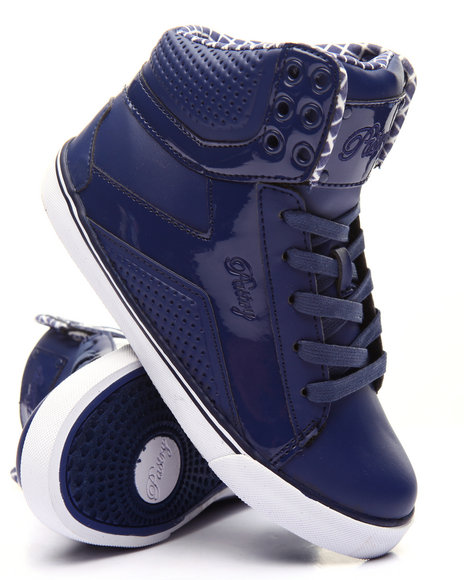 Pastry - Girls Navy Pop Tart Grid Girls Sneaker (10-4)