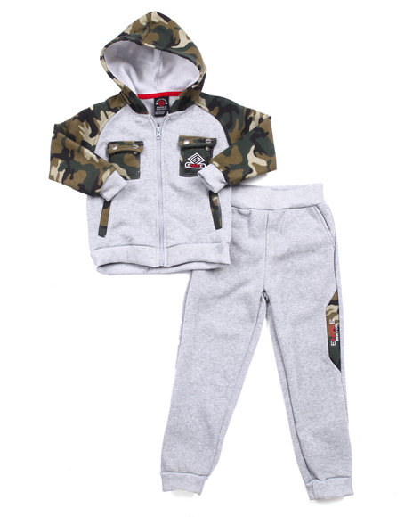 Enyce - Boys Camo,Grey Military Hoody & Jogger Set (4-7)