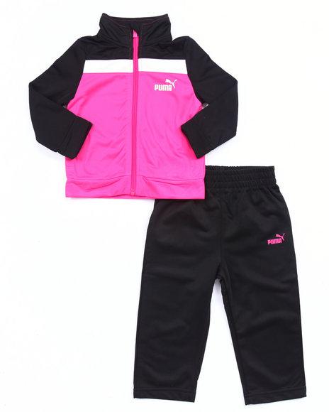 Puma - Girls Black Tricot Track Set (Infant)