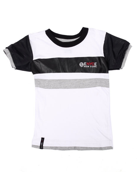 Enyce - Boys Wheat Faux Leather Trim Logo Tee (4-7) - $10.99