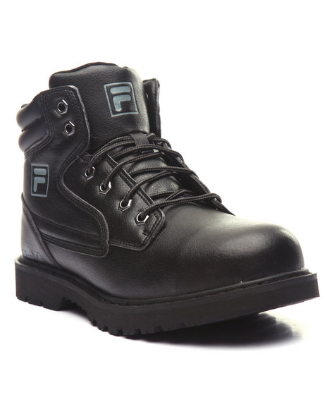 Fila - Men Black Steel Water Boot (Steel Toe Workboot)