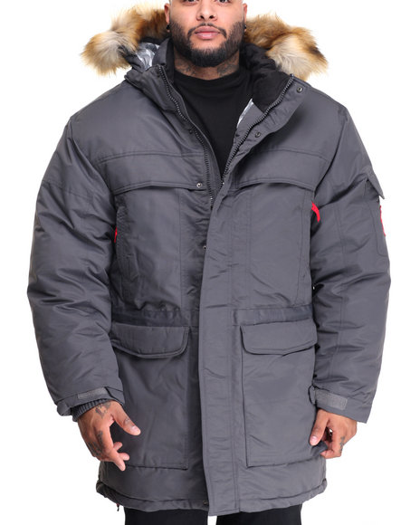 Buyers Picks - Men Charcoal K 2 Down Heavy Parka Jacket